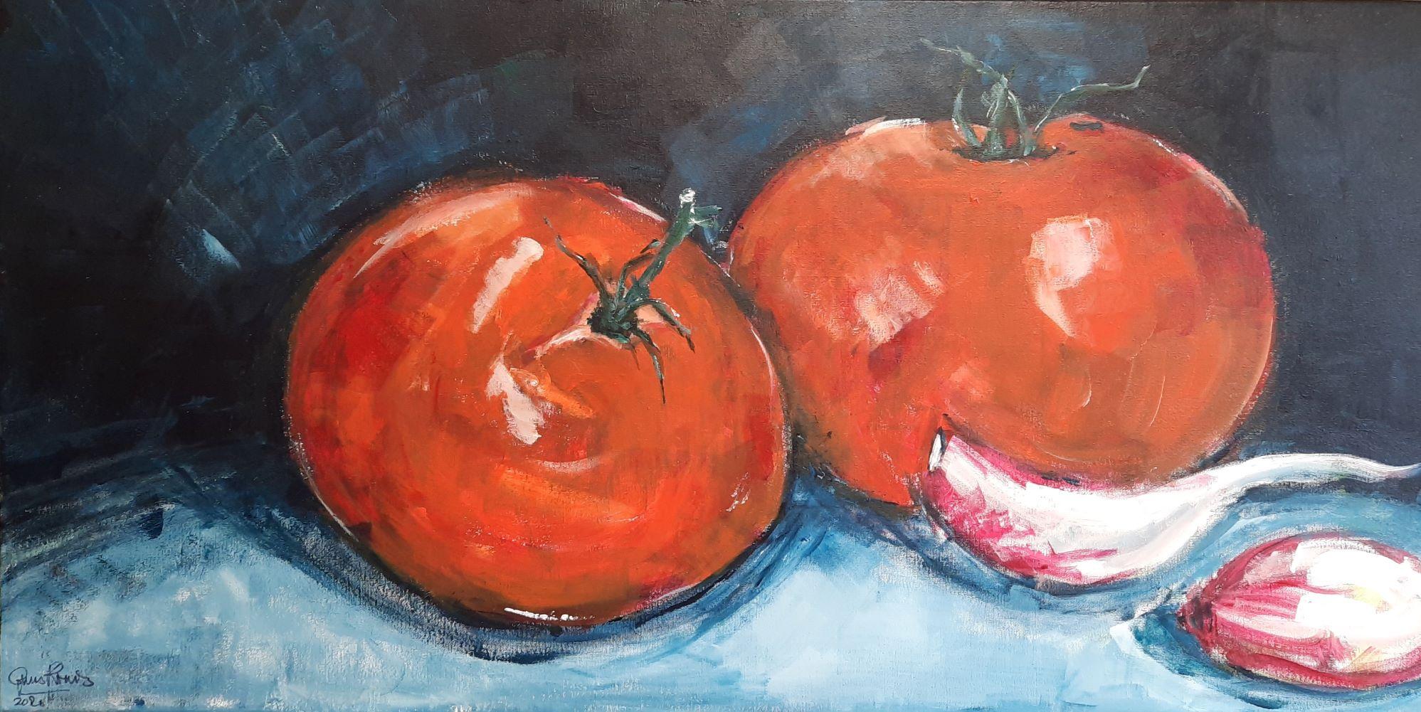 Tomaten en knoflook